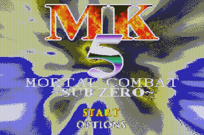 Титульный экран из игры Mortal Kombat Mythologies: Sub-Zero (Mortal kombat 5) / Смертельная битва Мифология Саб-Зиро