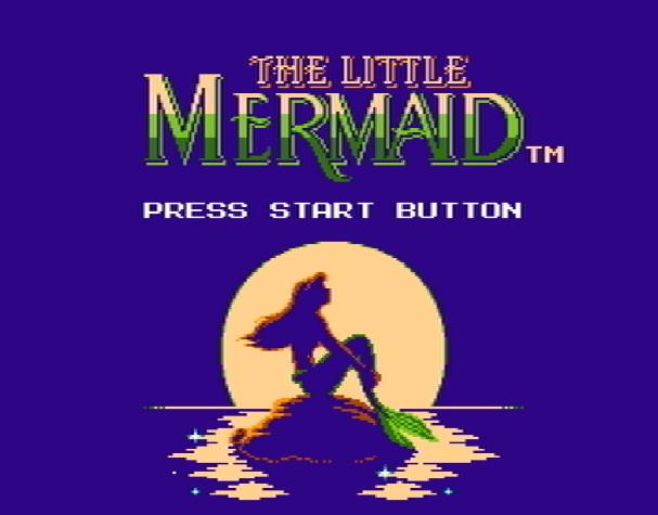 Титульный экран из игры Little Mermaid the' Ariel / Ариэль Маленькая Русалочка