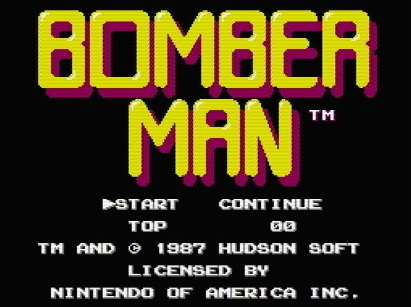 Титульный экран из игры Bomberman / Бомбермен