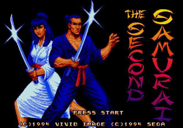 Титульный экран из игры Second Samurai / Второй Самурай