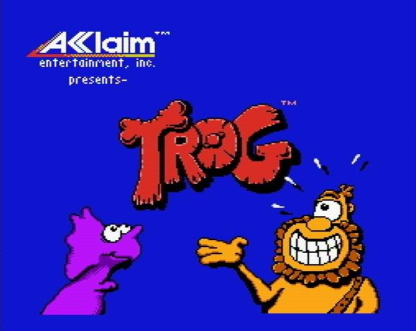 Титульный экран из игры Trog! / Трог!