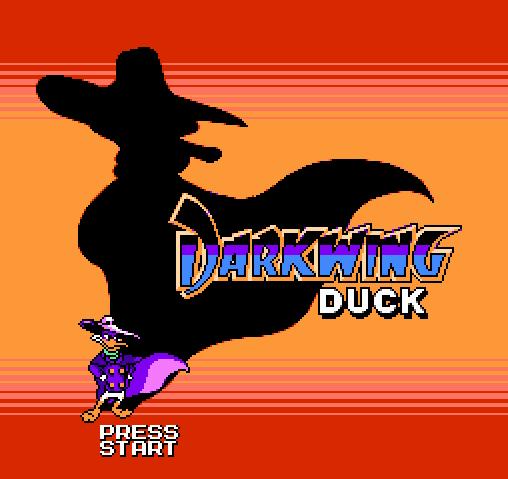Титульный экран из игры Darkwing Duck Advance / Чёрный Плащ Адванс
