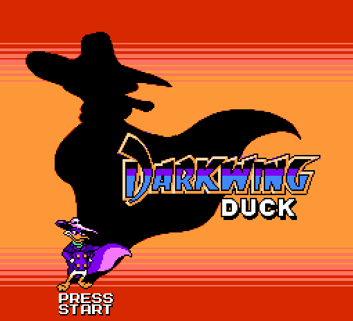 Титульный экран из игры Darkwing Duck / Чёрный Плащ