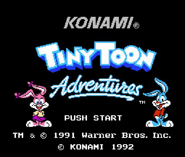 Титульный экран из игры Tiny Toon Adventures / Приключения Тайни Тун