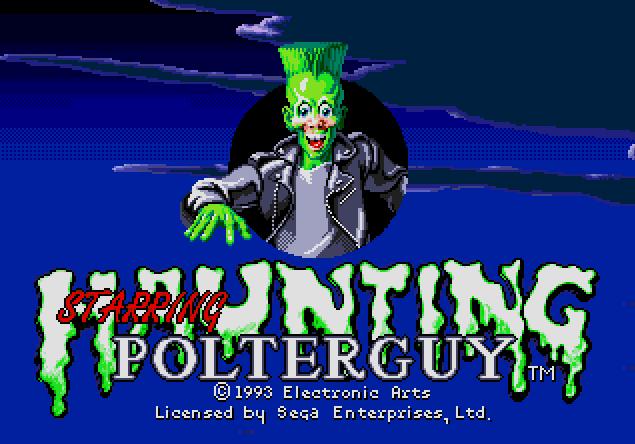 Титульный экран из игры Haunting Starring Polterguy / Вселение. В Главной Роли - Полтергейст