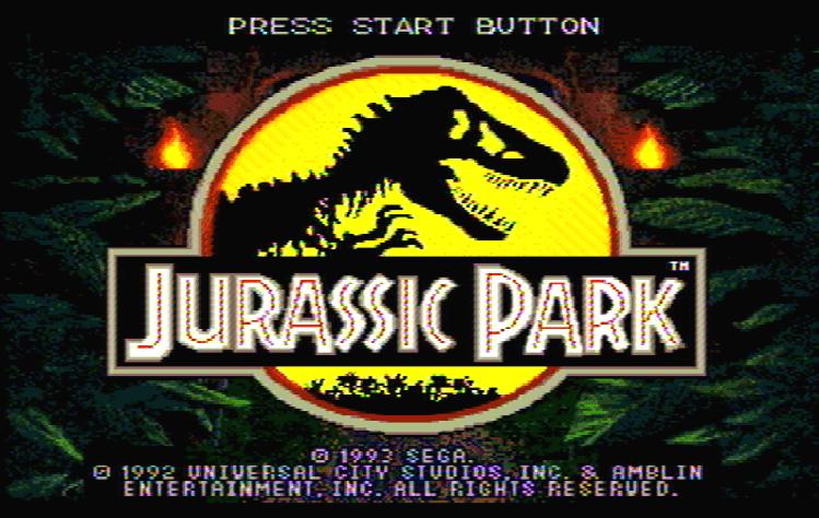 Титульный экран из игры Jurassic Park / Парк Юрского Периода