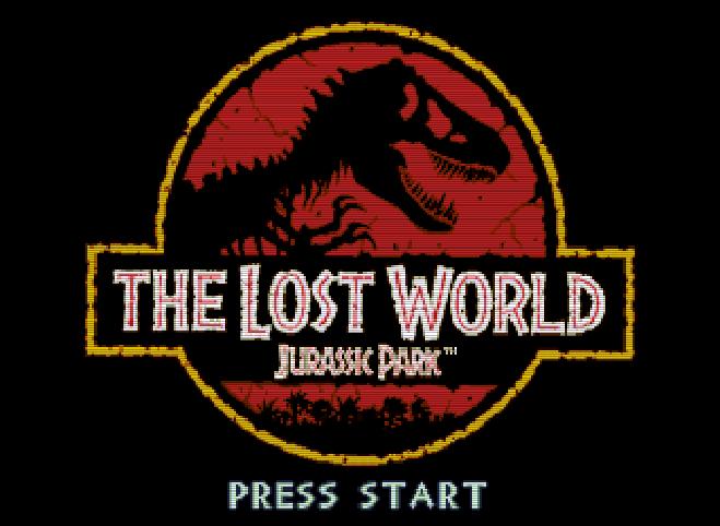 Титульный экран из игры Jurassic Park: the Lost World / Парк Юрского Периода: Затерянный мир