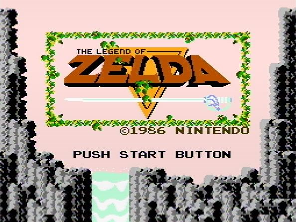 Титульный экран из игры Legend of Zelda 'the / Легенда Зельды