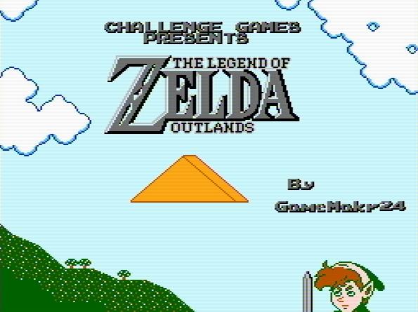 Титульный экран из игры Legend of Zelda: Outlands / Легенда Зельды: Заземелья