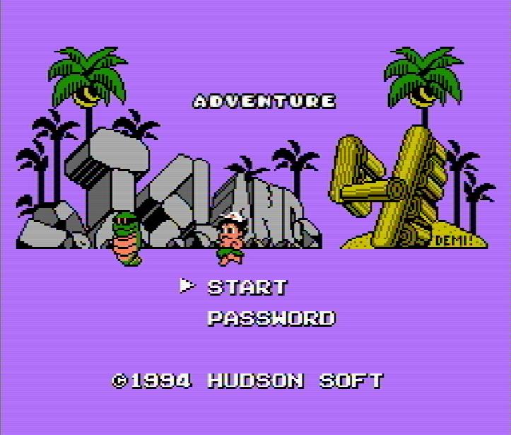 Титульный экран из игры Adventure Island 4 / Приключения на Острове 4