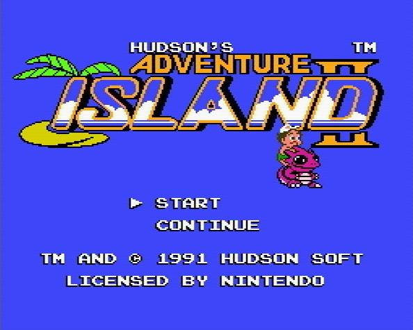 Титульный экран из игры Adventure Island 2 / Приключения на Острове 2
