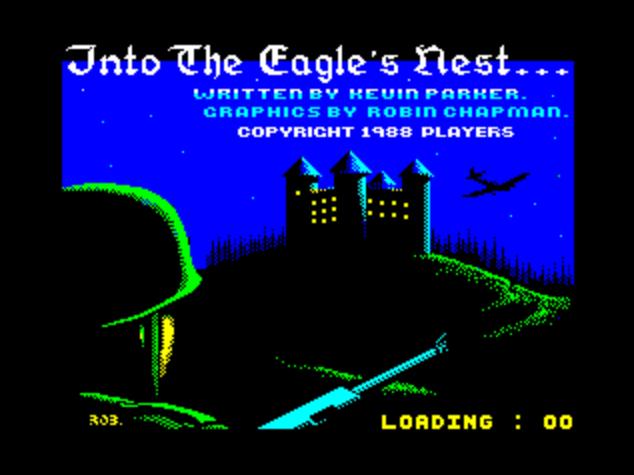 Титульный экран из игры Into the Eagle's Nest / В Орлинном Гнезде
