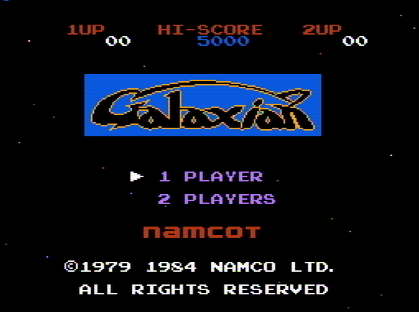 Титульный экран из игры Galaxian / Галактический