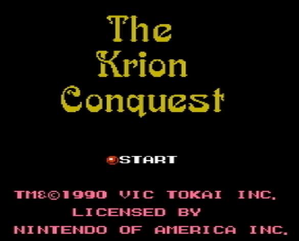 Титульный экран из игры Krion Conquest the / Завоевание Криона