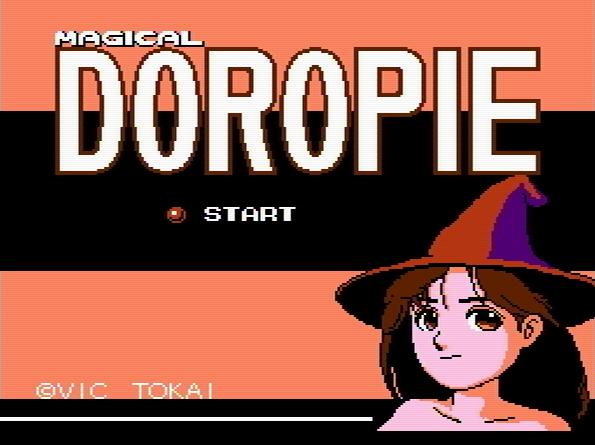 Титульный экран из игры Magical Doropie / Магическая Доропи