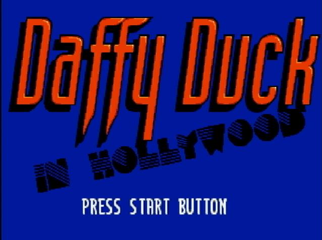 Титульный экран из игры Daffy Duck in Hollywood / Даффи Дак в Голливуде