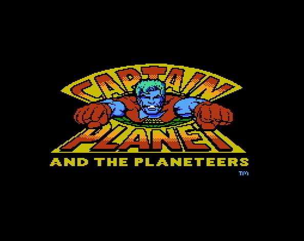 Титульный экран из игры Captain Planet and the Planeteers / Команда спасателей Капитана Планеты
