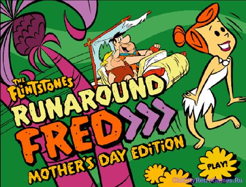 Титульный экран из игры The Flintstones Runaround Fred / Флинтстоуны: Поездки Фреда