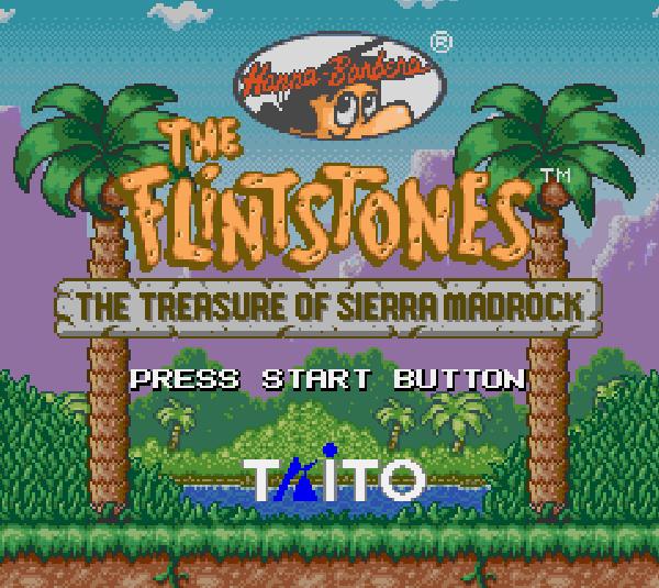 Титульный экран из игры Flintstones the: The Treasure of Sierra Madrock / Флинтстоуны Сокровище Сьерра МэдРок
