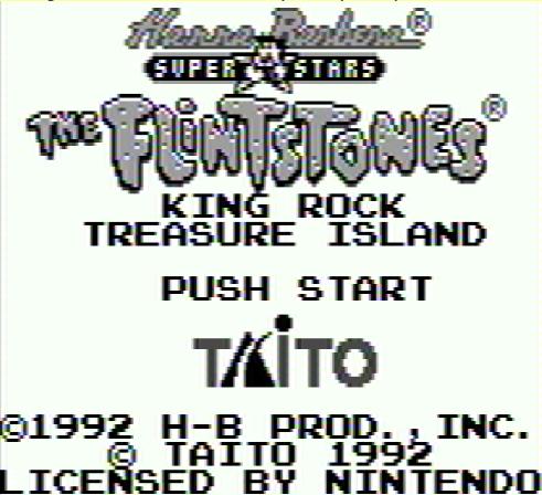 Титульный экран из игры Flintstones the - King Rock Treasure Island / Флинтстоуны: Остров Сокровищ Кинг Рок