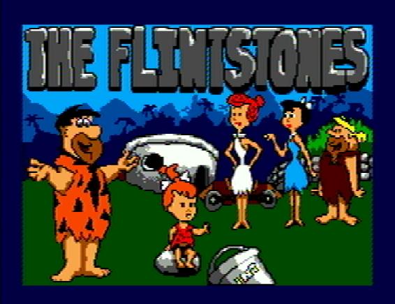 Титульный экран из игры Flintstones the / Флинтстоуны