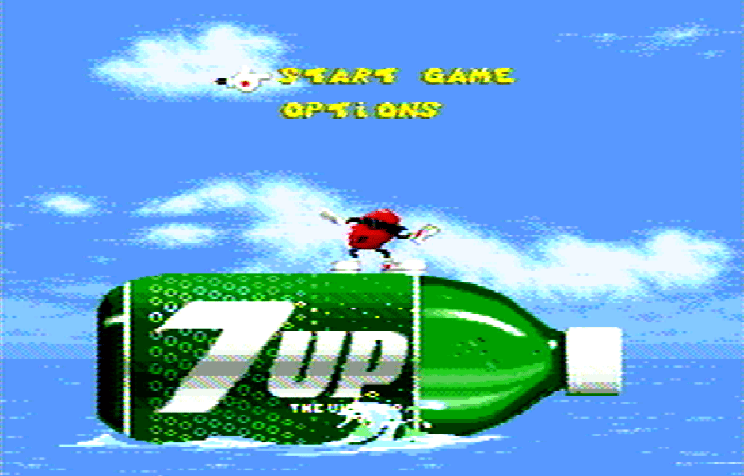 Титульный экран из игры Cool Spot / Кул Спот
