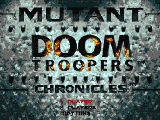 Титульный экран из игры Mutant Chronicles: Doom Troopers / Хроники Мутантов: Войны Судьбы