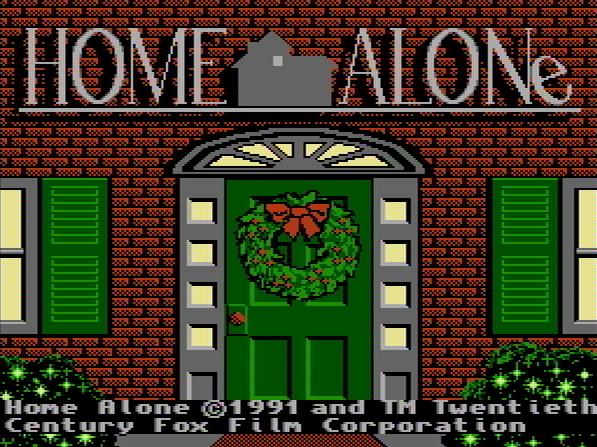 Титульный экран из игры Home Alone / Один Дома
