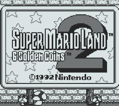 Титульный экран из игры Super Mario Land 2. 6 Golden Coins / Супер Марио Ленд 2. 6 Золотых Монеток