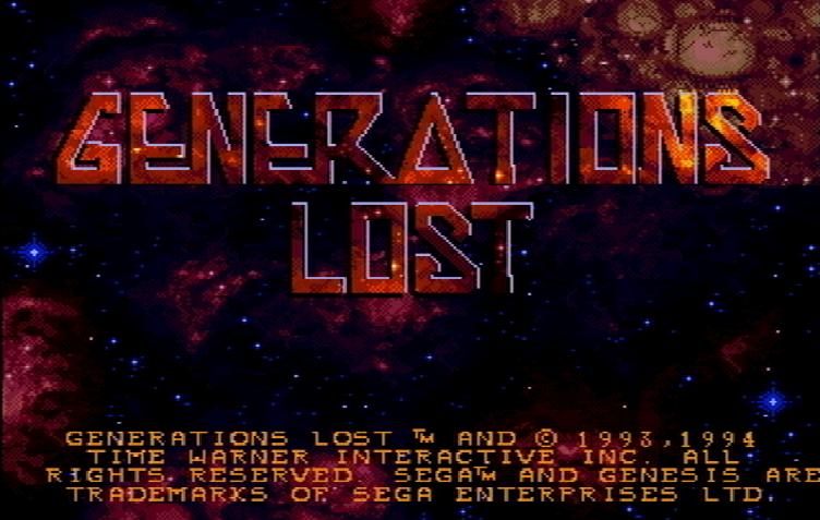 Титульный экран из игры Generations Lost / Погибшие Поколения