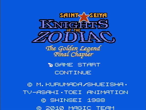 Титульный экран из игры Saint Seiya: Knights of the Zodiac - The Golden Legend Final Chapter / Святой Сейя - Рыцари Зодиака