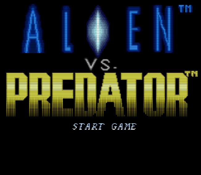 Титульный экран из игры Alien vs. Predator / Чужой против Хищника