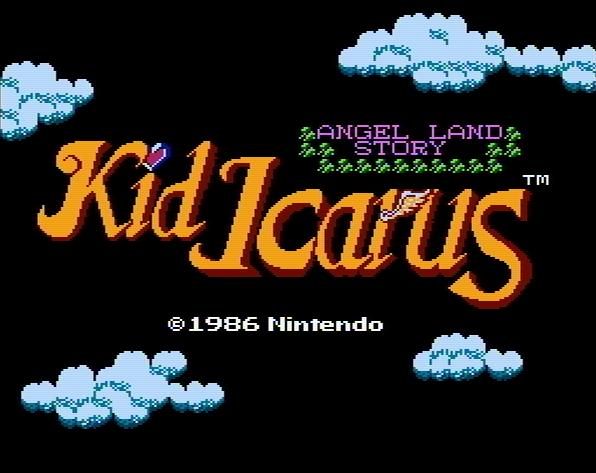 Титульный экран из игры Kid Icarus - Angel Land Story / Малыш Икар - История Земли Ангелов