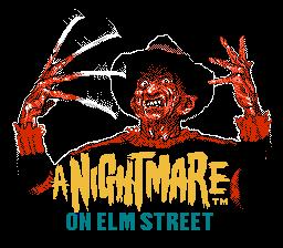Титульный экран из игры Nightmare on Elm Street, A / Кошмар на улице Вязов