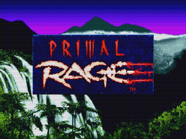Титульный экран из игры Primal Rage / Первобытная Ярость