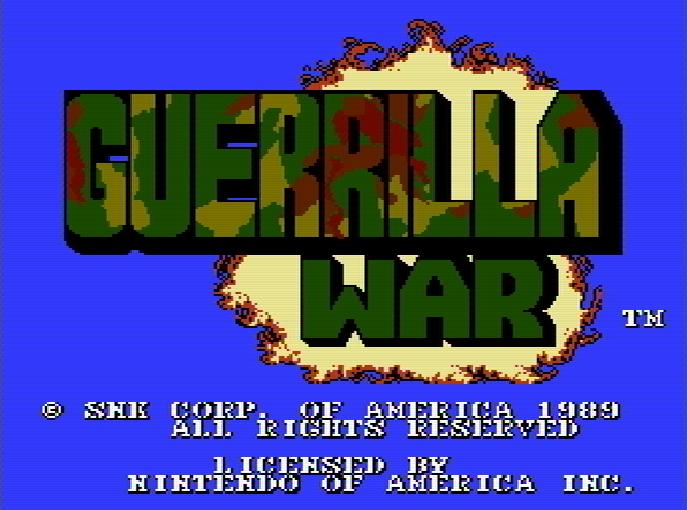 Титульный экран из игры Guerrilla War / Партизанская Война.