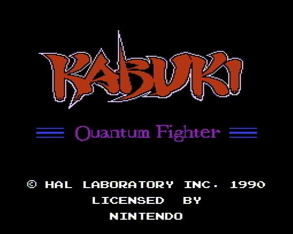 Титульный экран из игры Kabuki: Quantum Fighter / Кабуки: Квантовый Боец