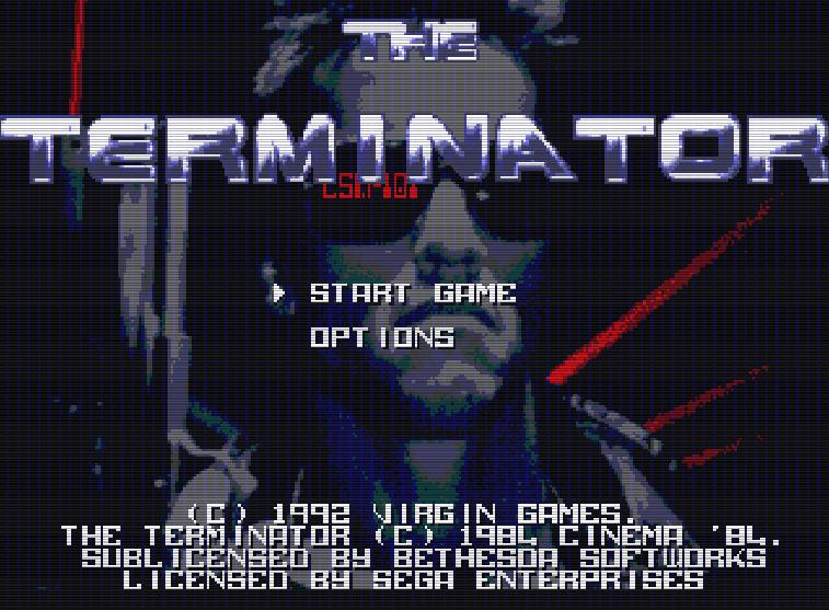 Титульный экран из игры Terminator 'the / Терминатор