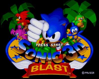 Титульный экран из игры Sonic 3D Blast: Flickies Island / Соник 3Д Бласт Остров Флики