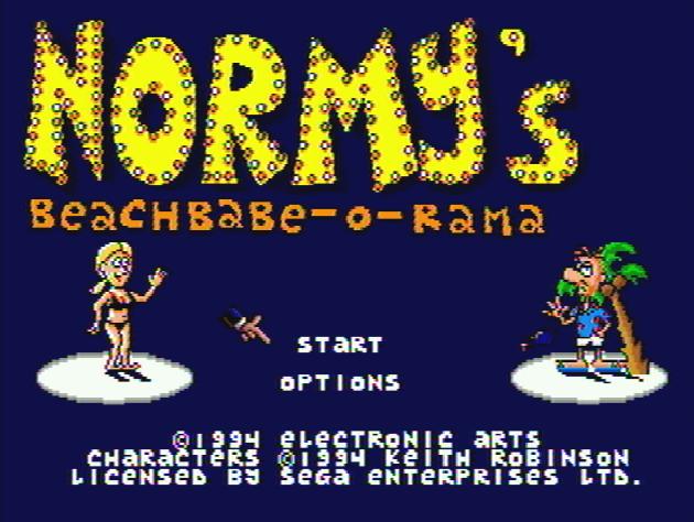Титульный экран из игры Normy's Beach Babe-O-Rama / Пляжная Бэйбэ-рама Норми