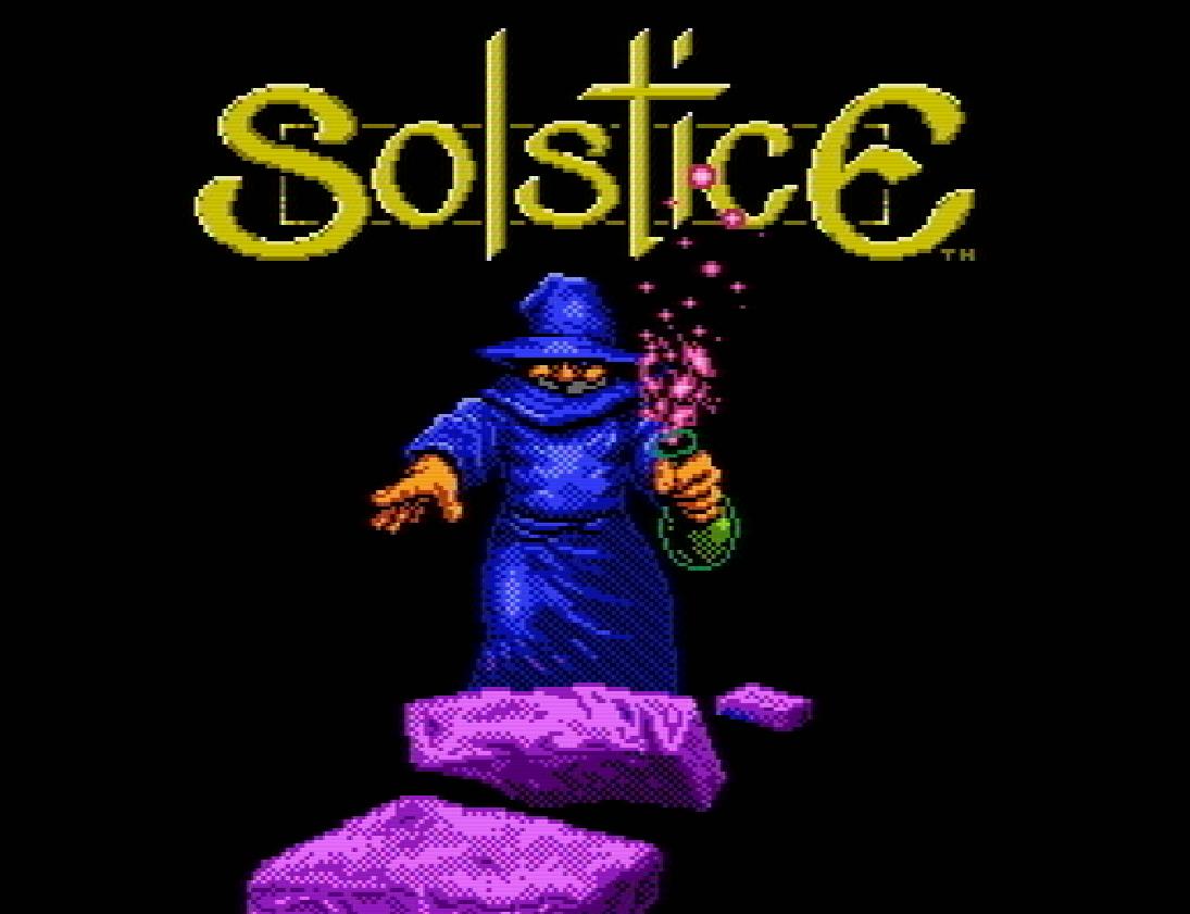 Титульный экран из игры Solstice: The Quest for the Staff of Demnos / Солстис: В поисках Демноса