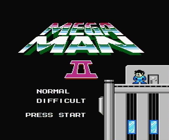 Титульный экран из игры Mega Man 2 / Мега Мен 2