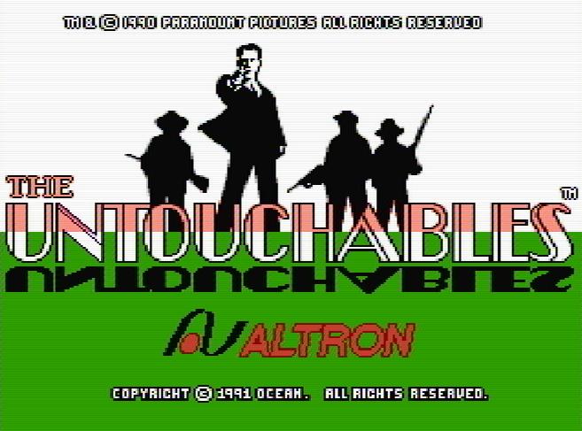 Титульный экран из игры Untouchables, The / Неприкасаемые