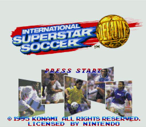 Титульный экран из игры International Superstar Soccer Deluxe / Международный Супер Звездный Футбол