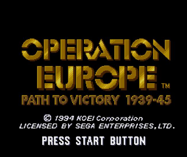 Титульный экран из игры Operation Europe - Path to Victory 1939-1945 / Операция Европа - Путь к Победе 1939-1945
