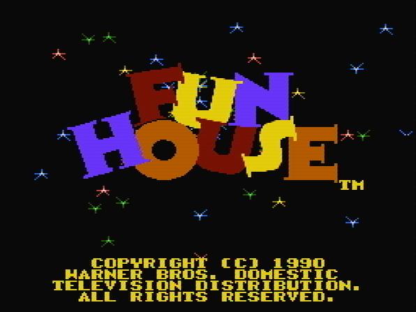 Титульный экран из игры Fun House / Дом Веселья