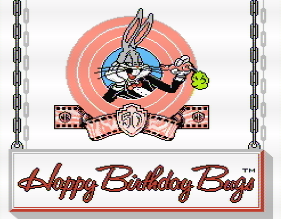 Титульный экран из игры Happy Birthday Bugs / ハッピーバースディバックス
