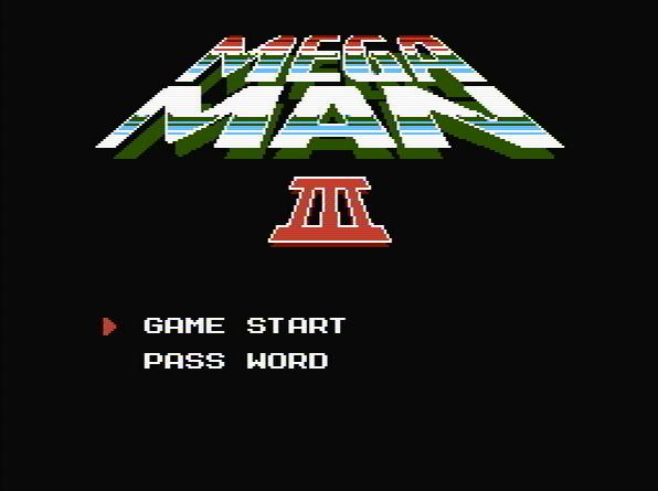 Титульный экран из игры Mega Man 3 / Мега Мен 3