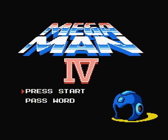 Титульный экран из игры Mega Man 4 / Мега Мен 4