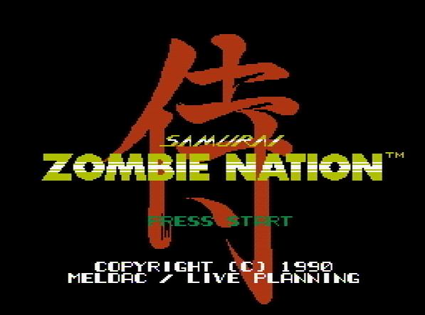 Титульный экран из игры Zombie Nation / Нация Зомби